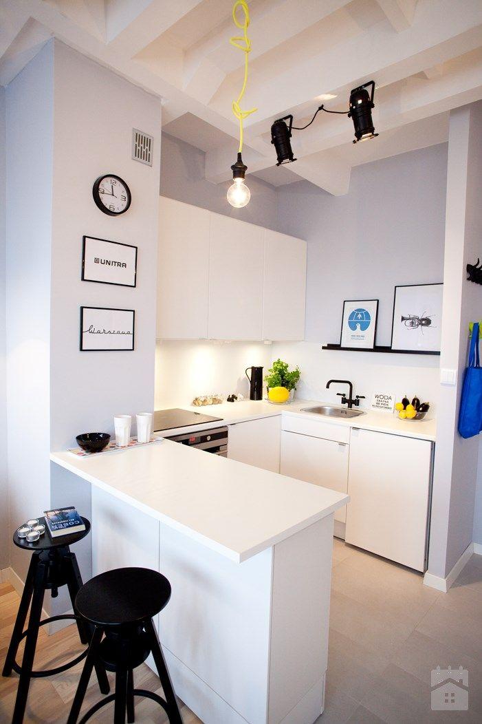 Small Kitchen Kitchen Design Living Room Decor Apartment White Kitchen