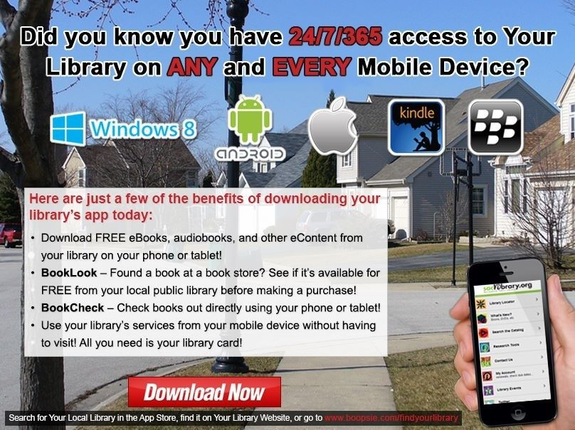 Your library on your mobile device.