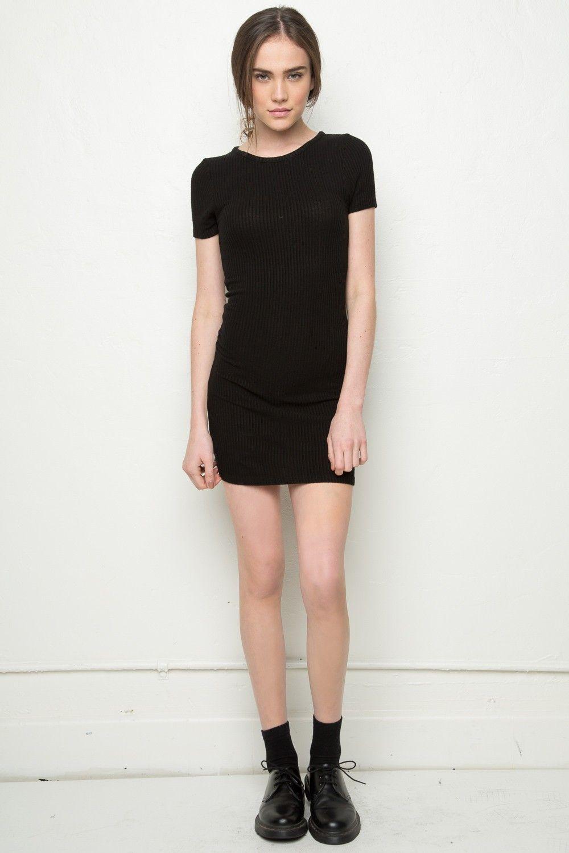 Black t shirt dress brandy melville - Brandy Melville Jenelle Dress Dresses Clothing