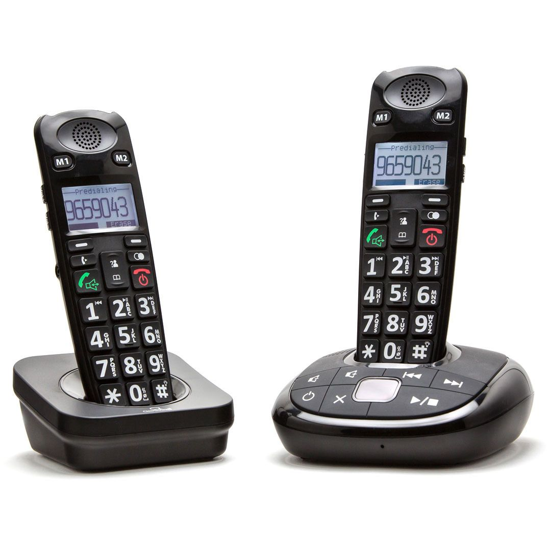 ClearSounds A700 Dect 6.0 Amplified Cordless Phone with Answering Machine and Additional Handset #A700-BUN