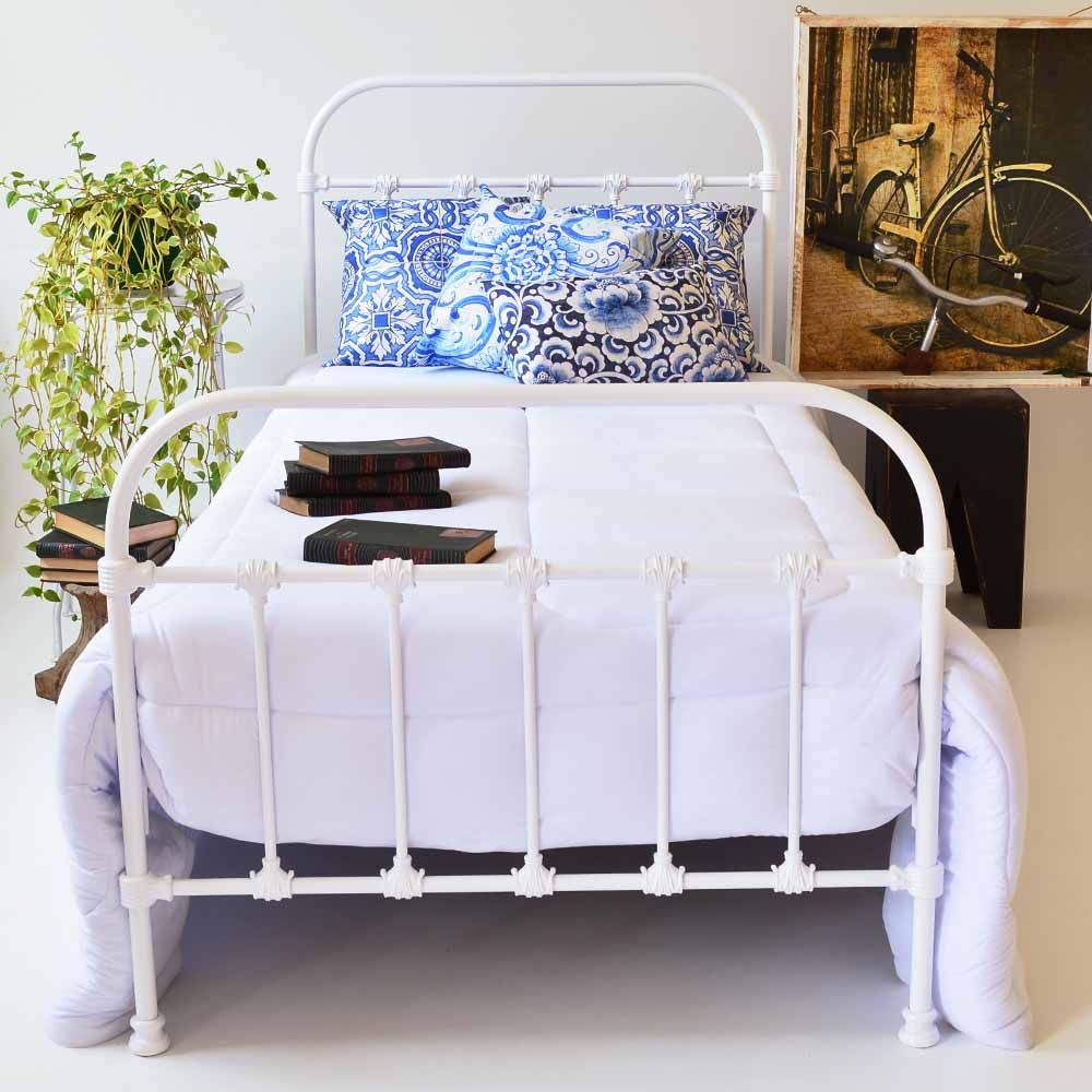 Cama de Ferro Baronesa Branca - Solteiro | reforma | Pinterest