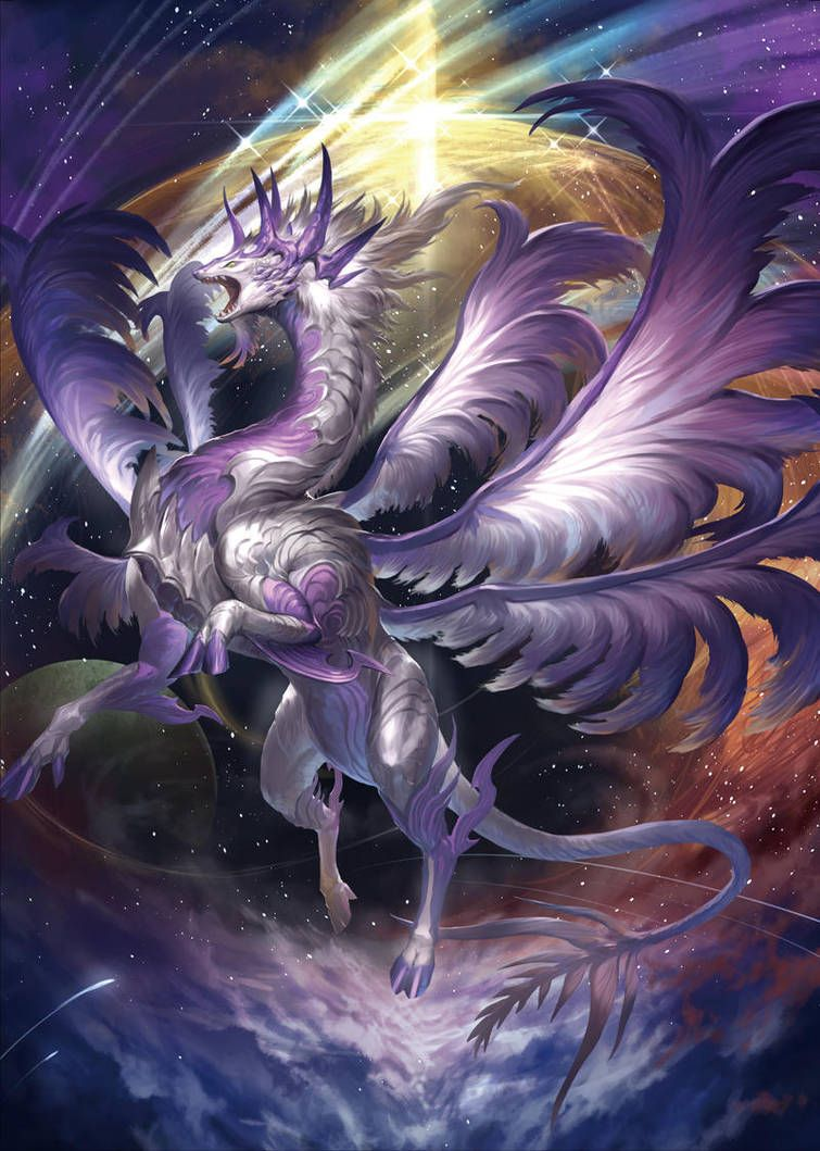 Emissary Of Star By Wi35dda Mythical Creatures Art Dragon Pictures Mythical Dragons
