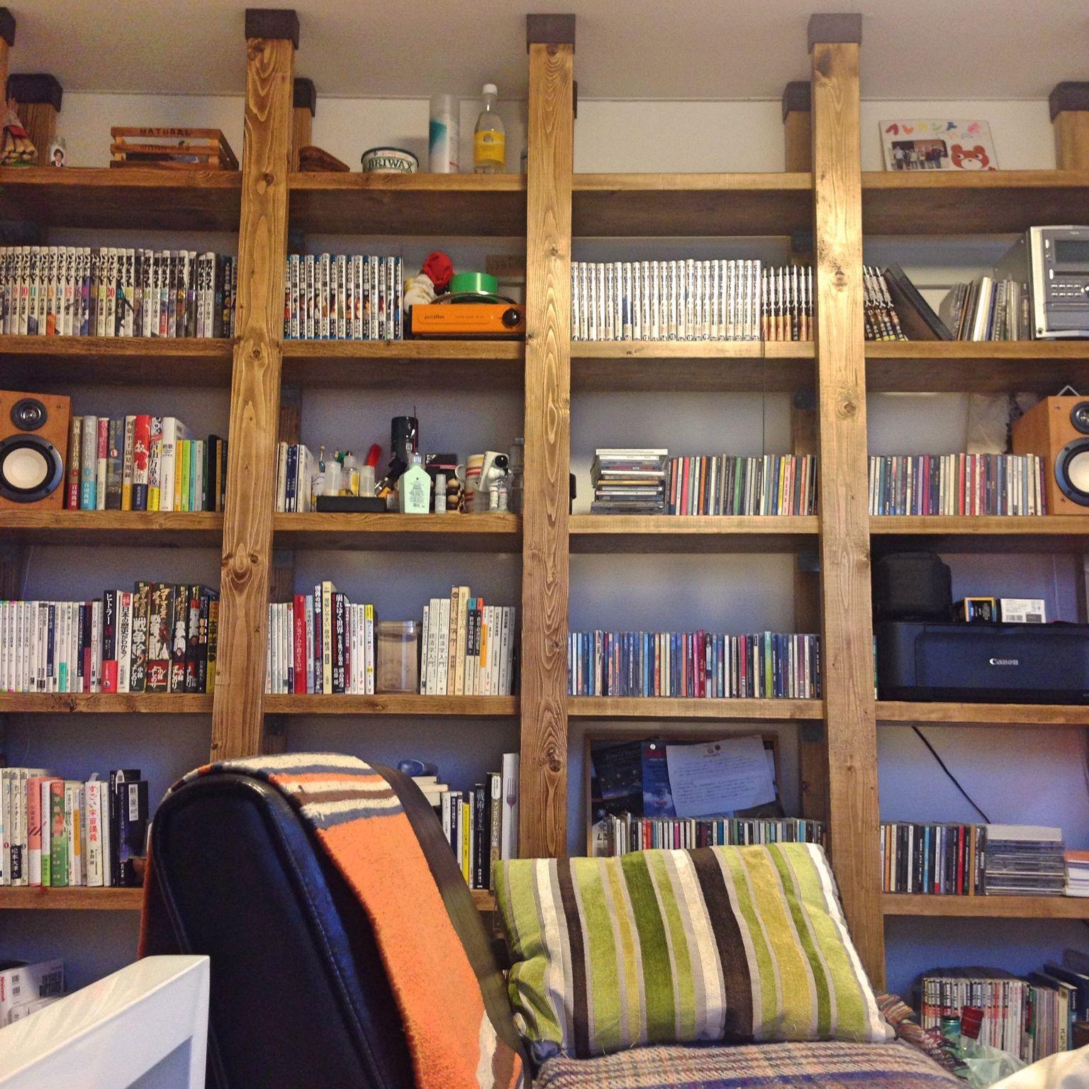 ジャコビアン 本棚 ワンルーム Diy 一人暮らし などのインテリア実例