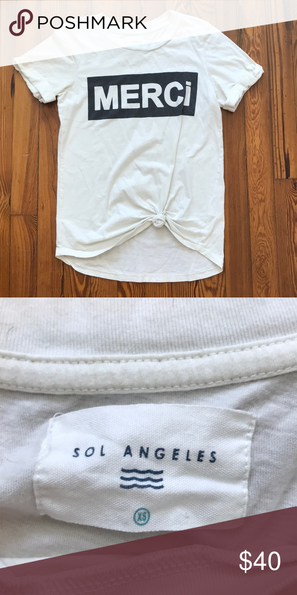 861289a8b Anthropologie Sol Los Angeles Merci tee XS In great condition, made tee  front tie Sol Angeles Tops Tees - Short Sleeve