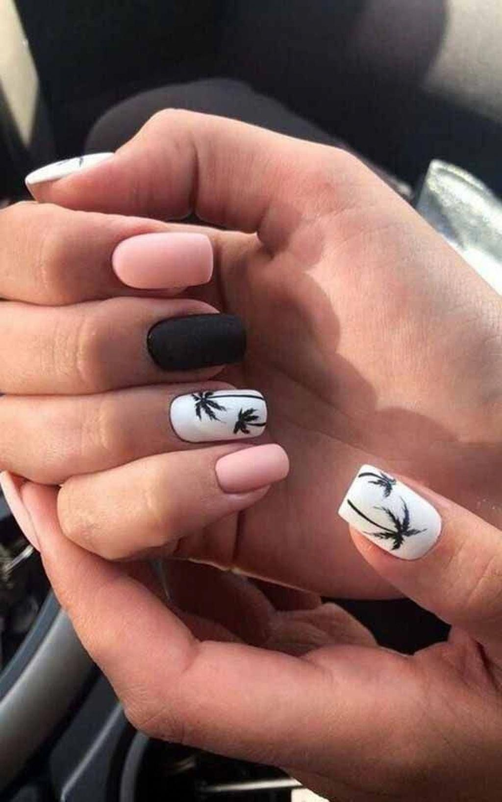 Stunning 58 Perfect Summer Beach Nails Designs Ideas For Your Exceptional Look Summergelnailsideas In 2020 Beach Nail Art Summer Nails Beach Nail Art Summer