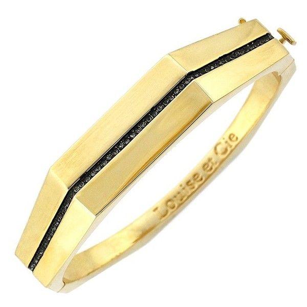 Louise et CiePaveHinged Bangle (315 BRL) ❤ liked on Polyvore featuring jewelry, bracelets, 14 karat gold jewelry, hinged bangle, bangle jewelry, pave jewelry and 14k bangle bracelet