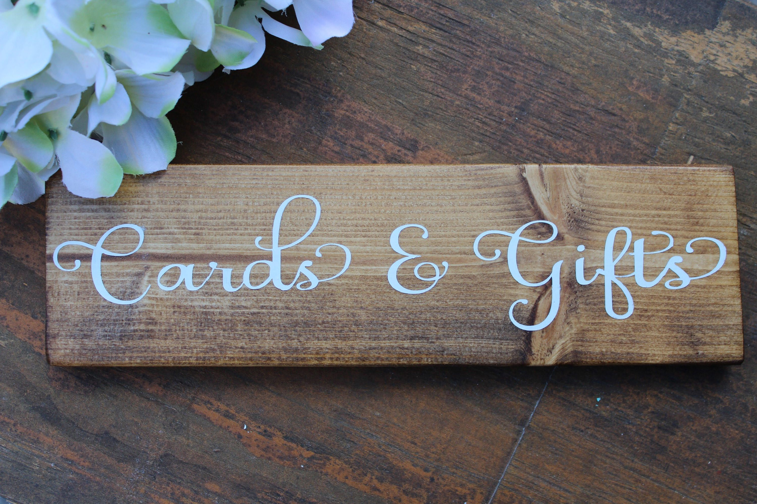 Wedding Gifts and Cards Sign Wooden Wedding Signs Cards and Gifts Wood Sign