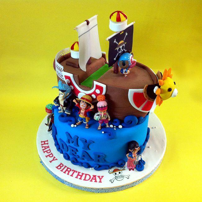 Fondant One Piece cake Pinterest Fondant cakes Cake online