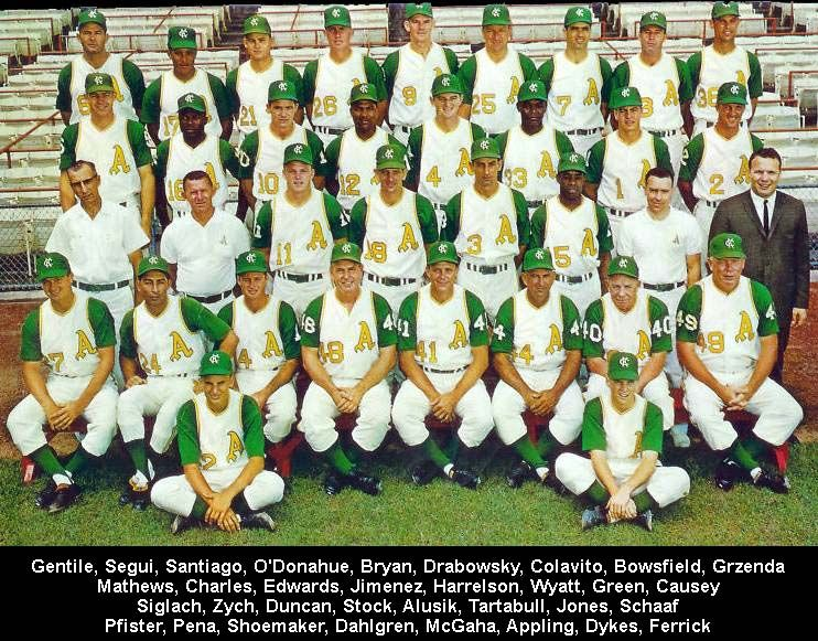 1964 Kansas City Athletics team photo; Rocky Colavito is