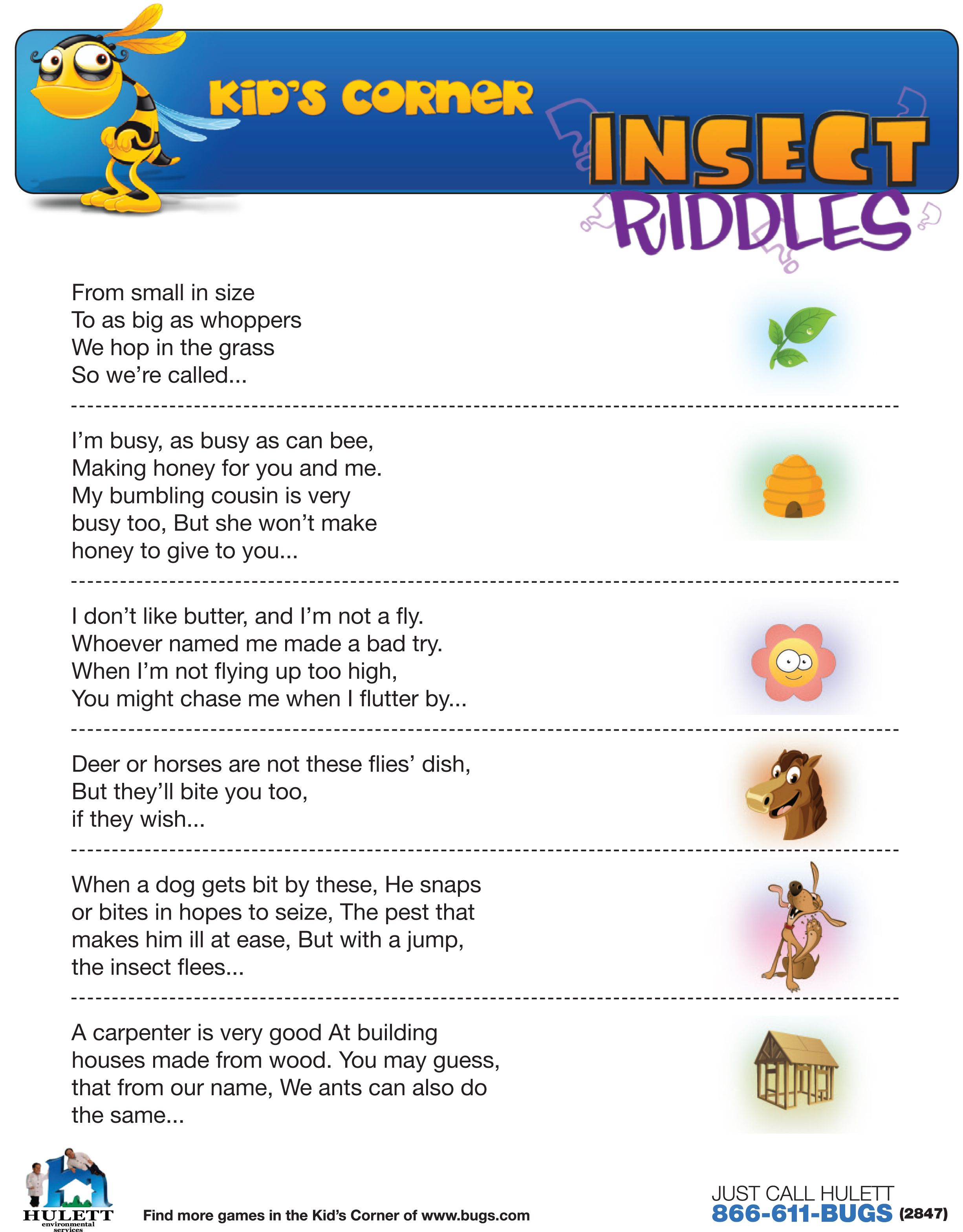 Riddles about human body parts for children 93