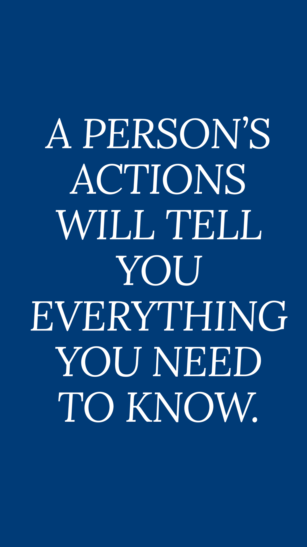 Iphone Wallpaper Blue Aesthetic Navy Quotes Actions Speak