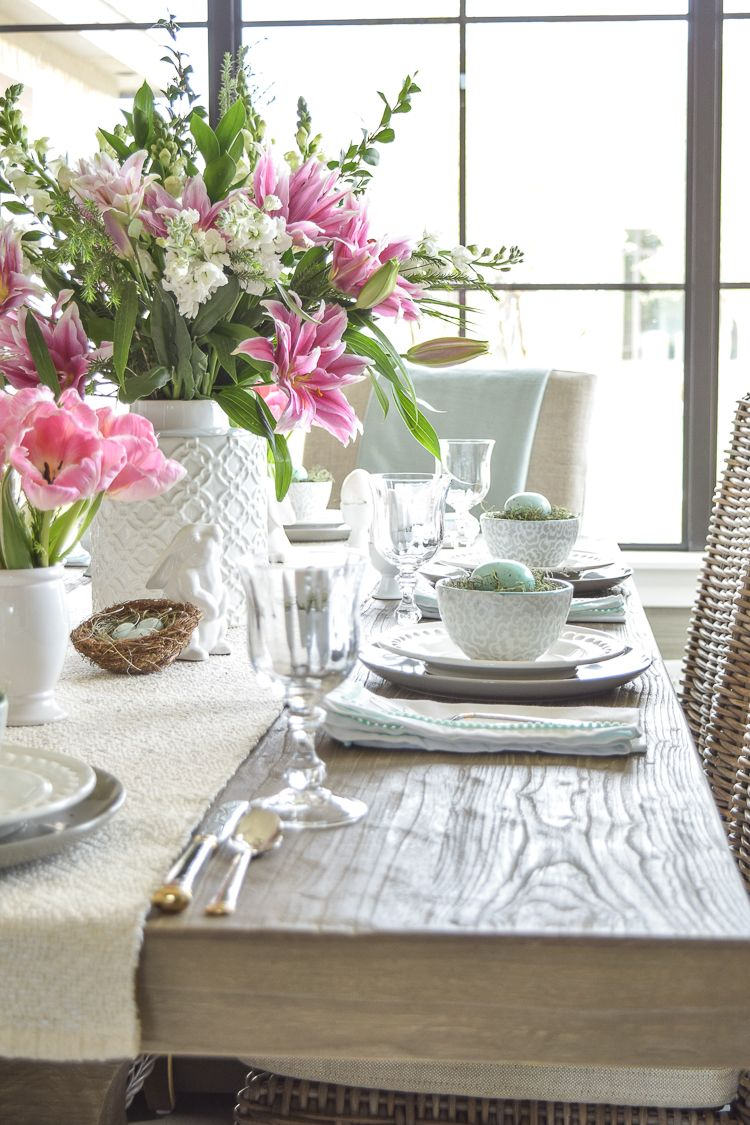 Casual Elegant Easter Table Scape Easter Table Easter Dining