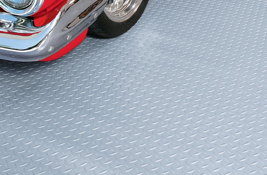 Diamond Nitro Rolls Roll Out Vinyl Garage Floor Covering Garage Floor Vinyl Garage Flooring Rubber Garage Flooring