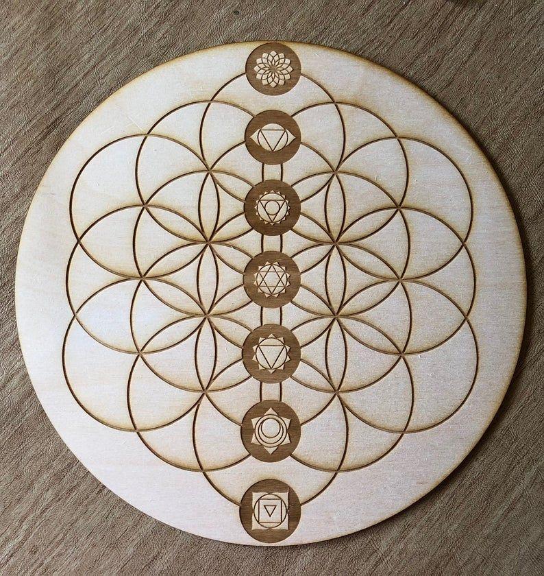 Flower Of Life Chakras Crystal Grid Chakras Crystal Grid Etsy In