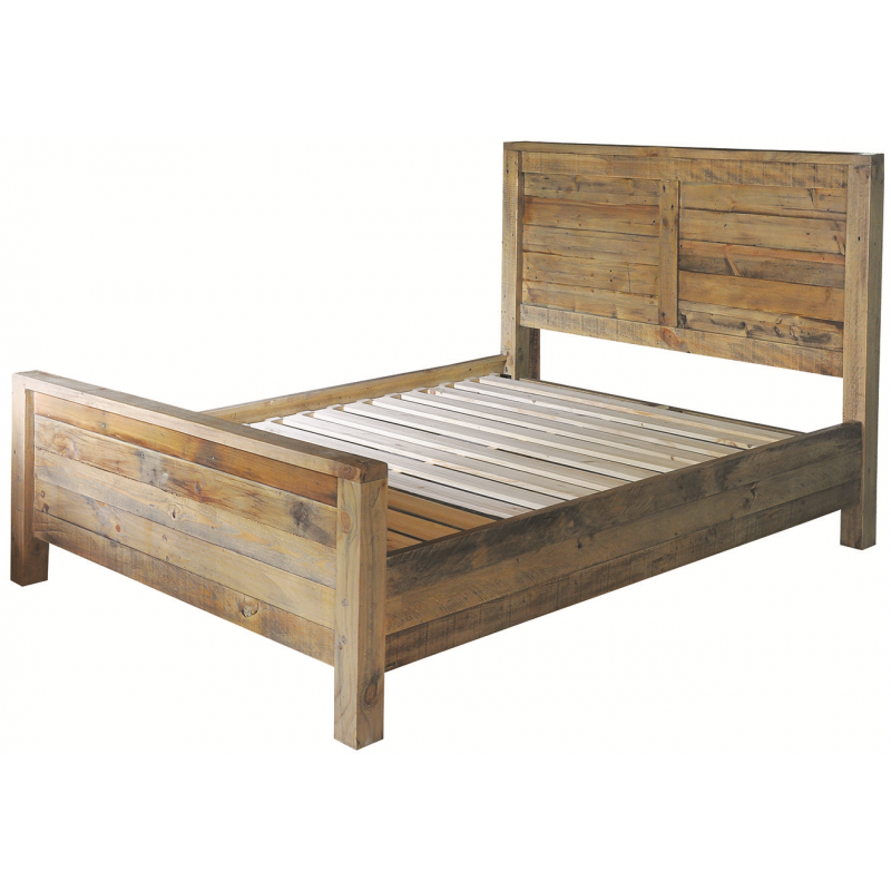 Reclaimed Wood 5ft King Size Bed Frame Fullbrook Reclaimed Wood Beds Bedroom Furniture Wood Beds