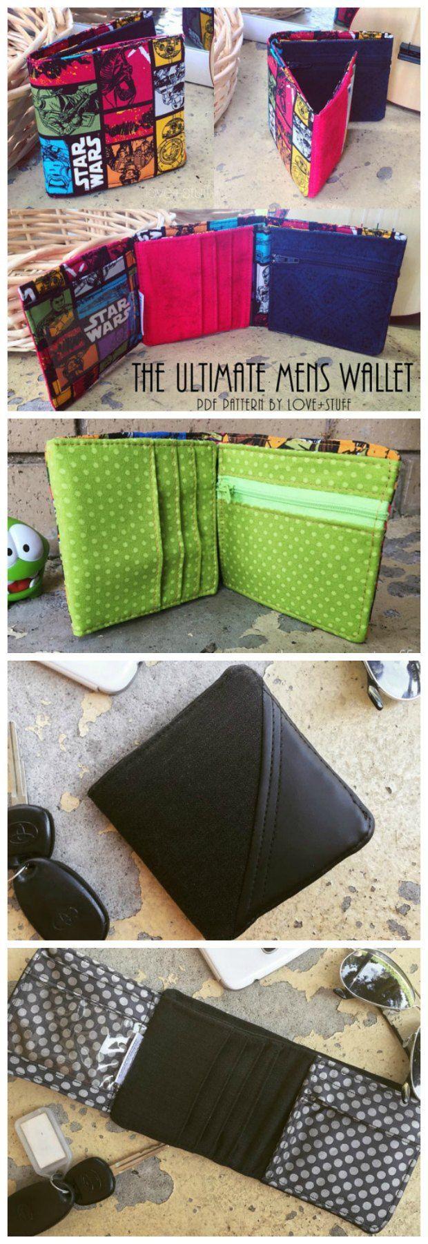 Ultimate Mens Wallet sewing pattern | Taschen nähen, Nähen und Diy nähen