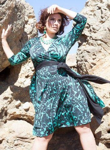 Neve Wrap Dress in Jade