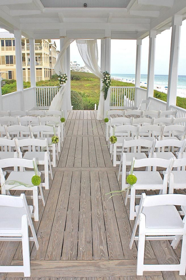 Seaside Pavilion Wedding Fl
