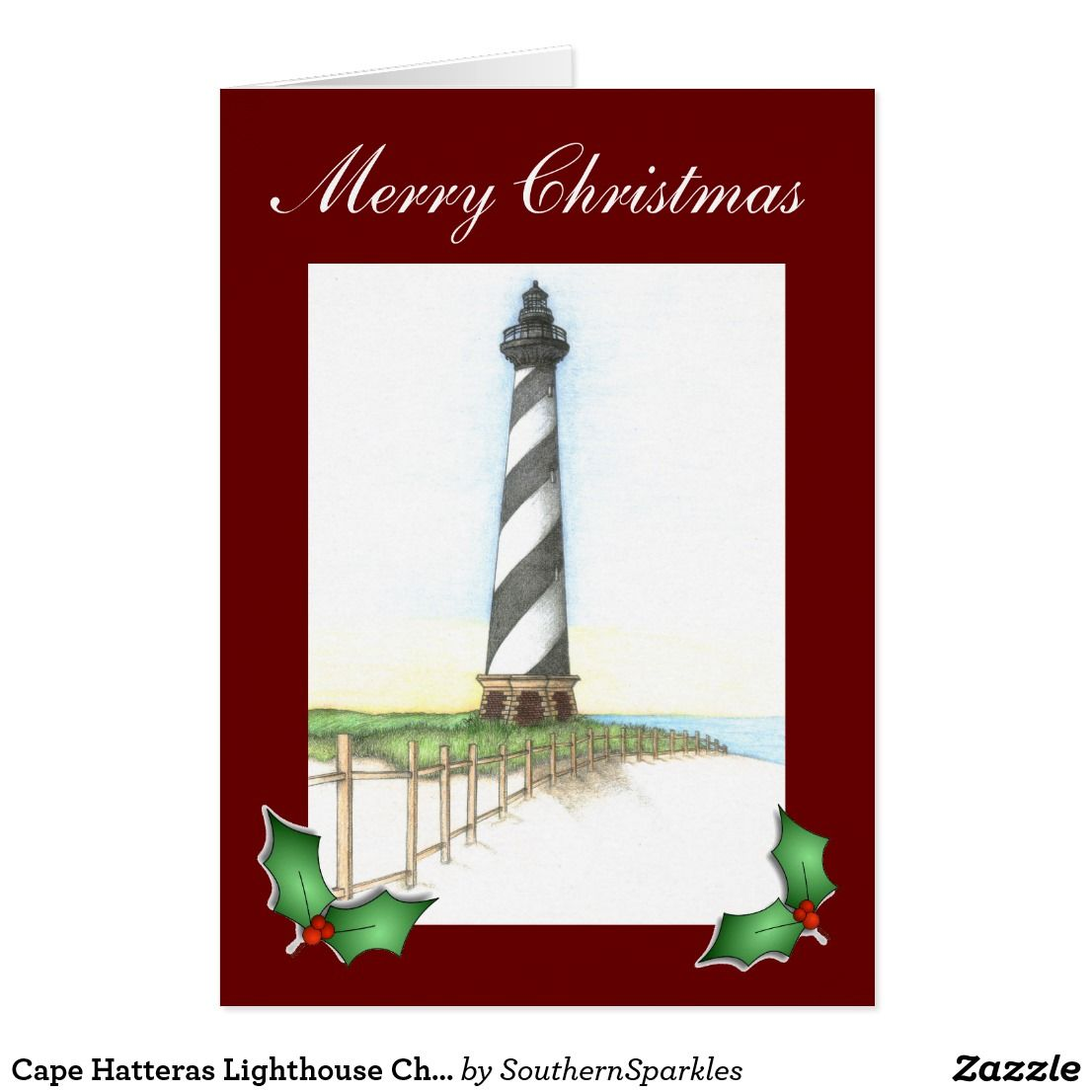 Cape Hatteras Lighthouse Christmas Card | Southern Sparkles on ...