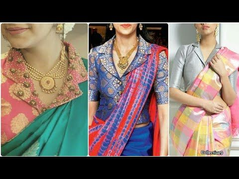 edd18a2535c3e4 Latest Collar Neck Blouse Designs || Designer Saree Blouse Patterns || Neck  Patterns - YouTube
