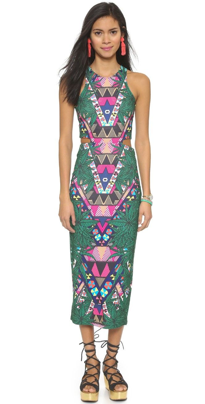 Cutout Midi Dress Pinterest Mara Hoffman Midi Dresses And Detail