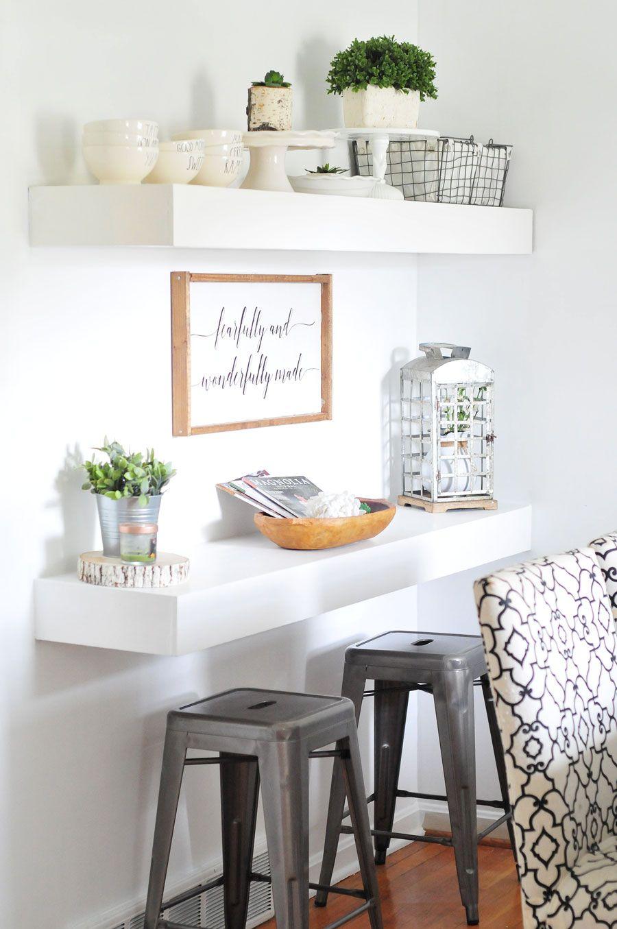 Farmhouse Dining Room Reveal Dining room, Shelves, Dining
