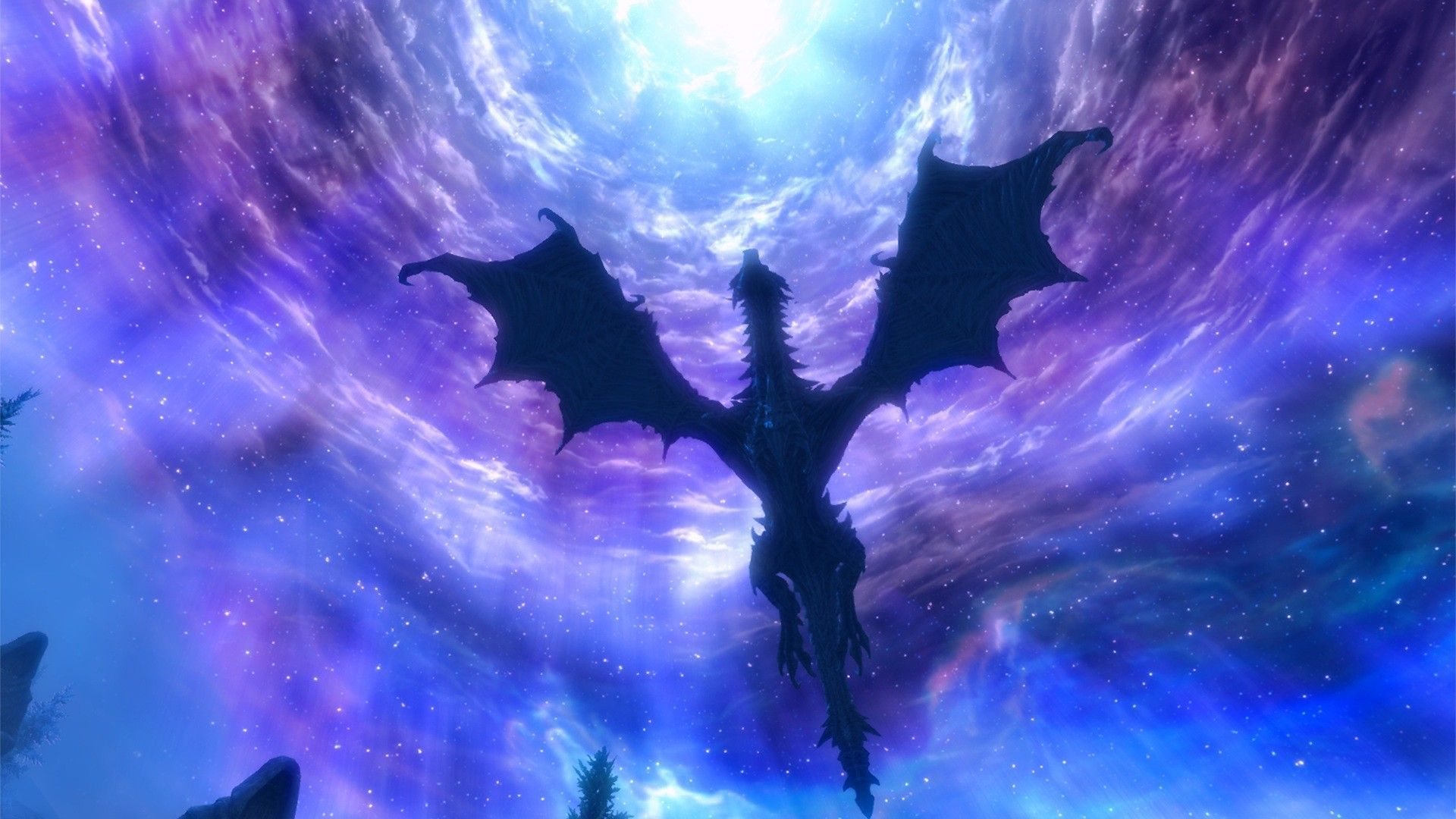Purple Dragon Wallpapers Skyrim Wallpaper Skyrim Dragon Space Dragon