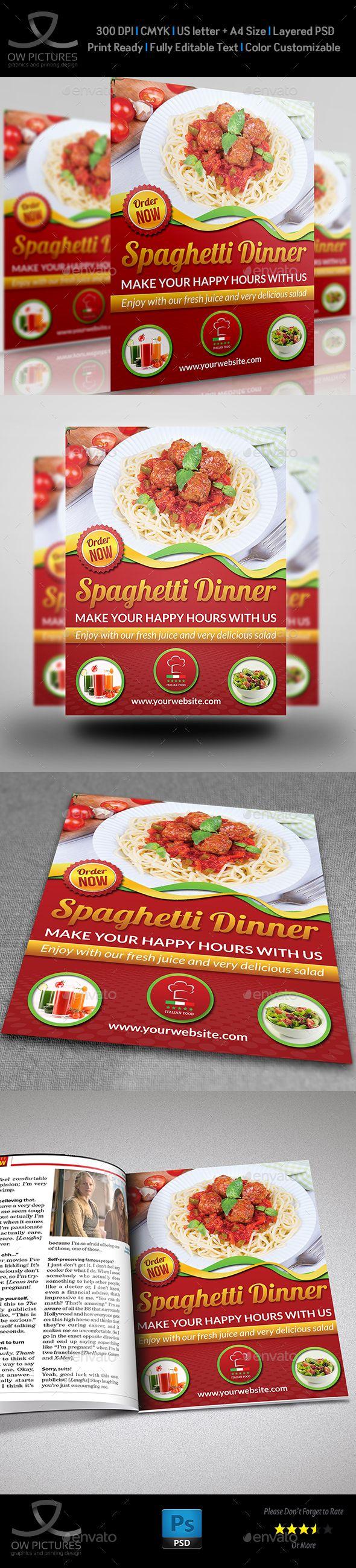 Restaurant Flyer Template Vol  Flyer Template Restaurants And