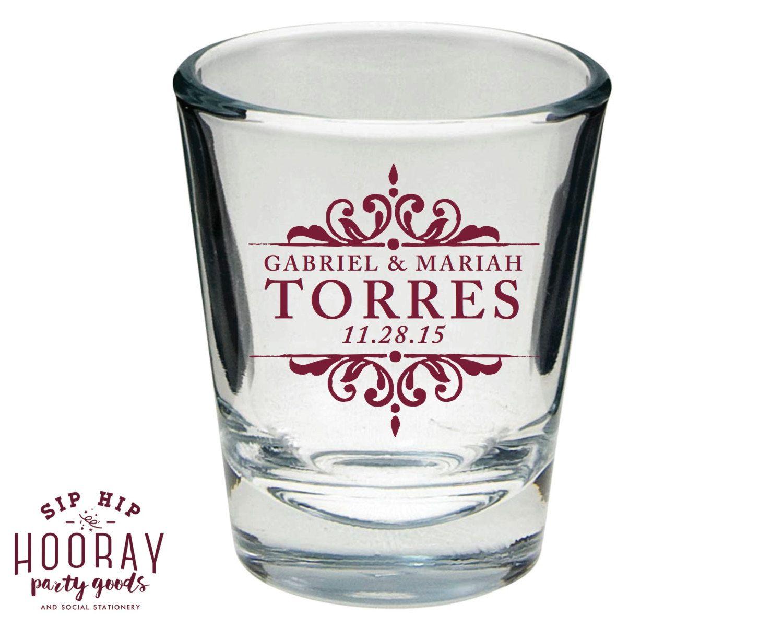 Wedding Shot Glasses, Wedding Favors, Shot Glasses, Personalized ...