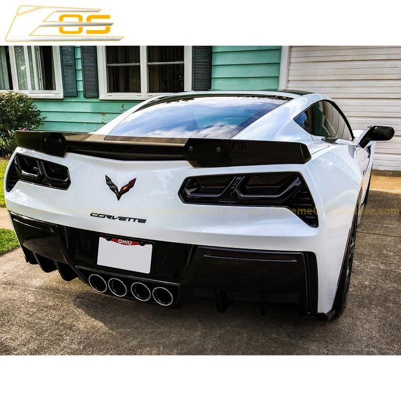 Corvette C7 Carbon Flash Stage 3 Rear Spoiler Front Splitter Side Skirts Extremeonlinestore Corvette C7 Corvette Corvette C7 Stingray