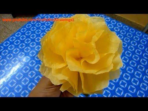 How to make a tissue paper flower easilyis is so simple made how to make a tissue paper flower napkin flower easily mightylinksfo