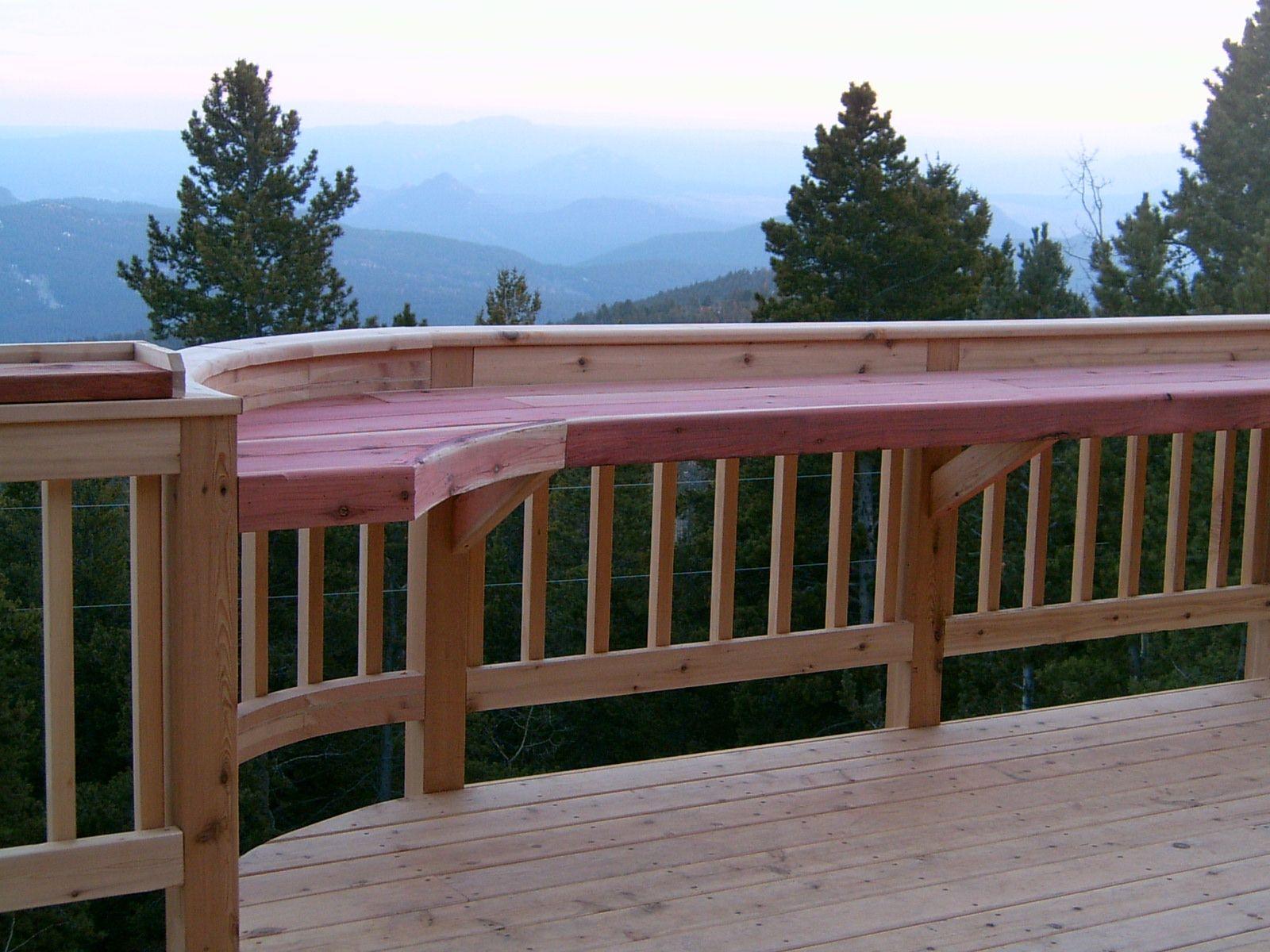 Best Outdoor Bar Railings – Custom Deck With Hot Tub 400 x 300