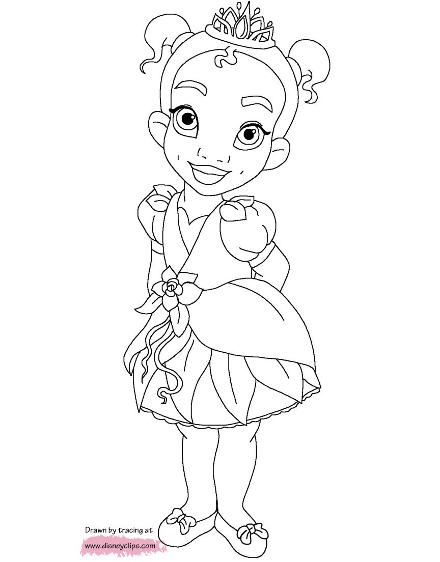 The Princess and the Frog coloring picture | Princess coloring ... | 1104x864