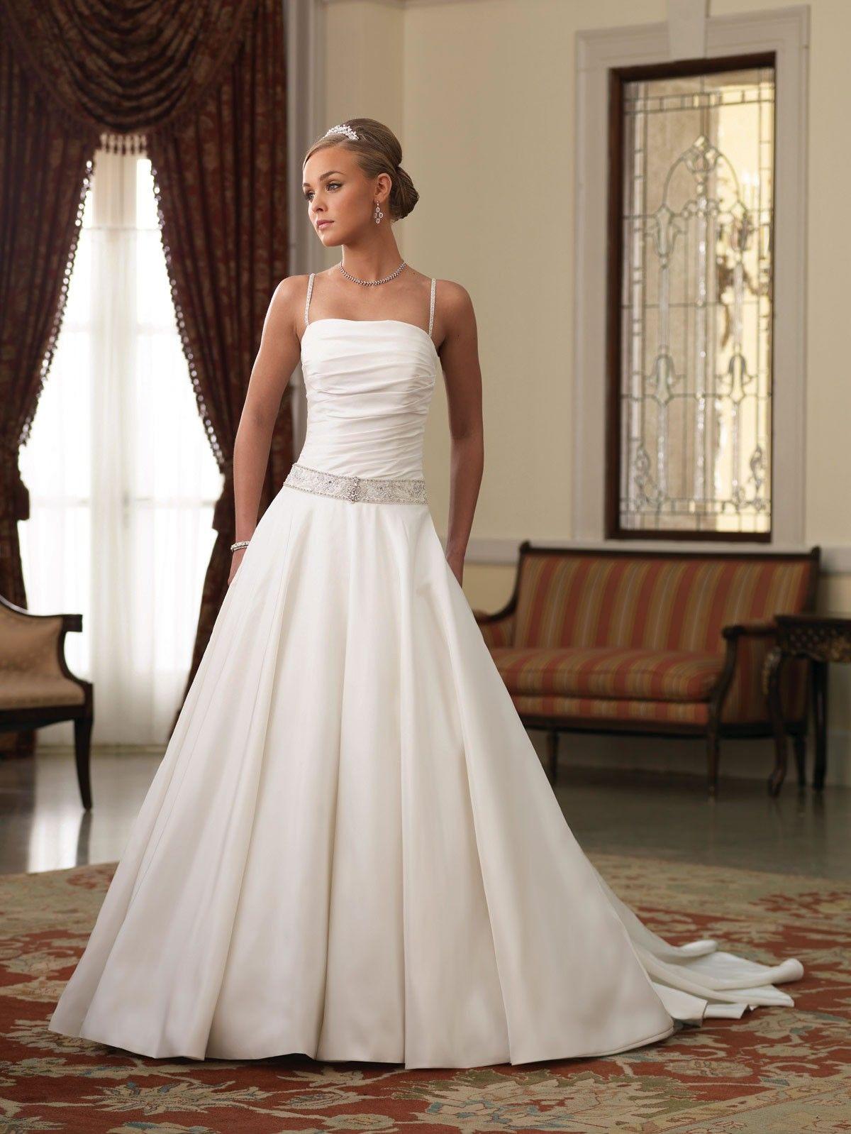 Dress for wedding party female  Taffeta Spaghetti Straps Neckline Directionally Pleated Bodice Ball