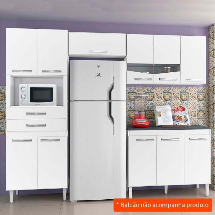 Kit De Cozinha Livia 8 Pt 2 Gv Branco Em 2020 Cozinha Compacta