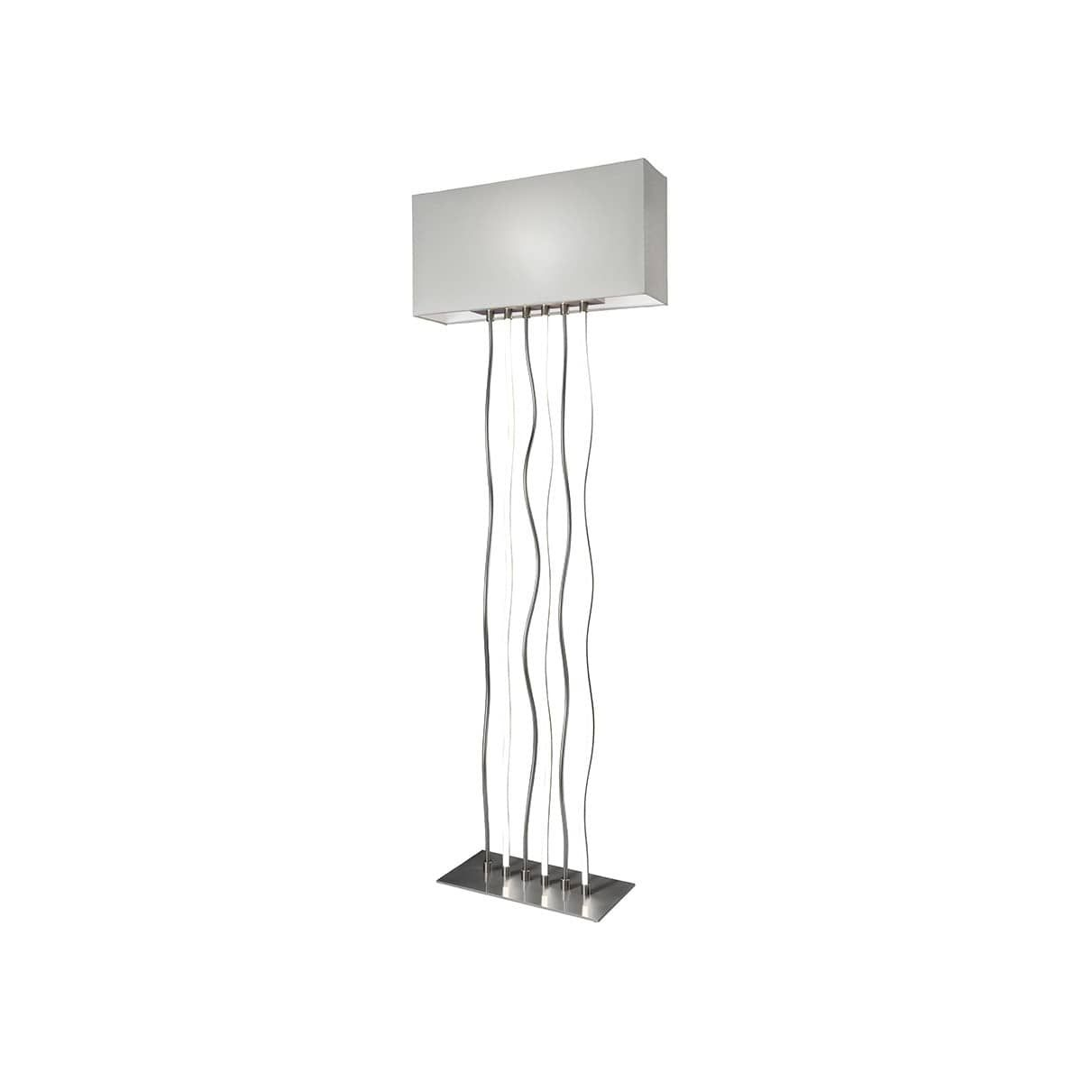 Sompex Viper Led Stehleuchte Metall Textil Weiss Led