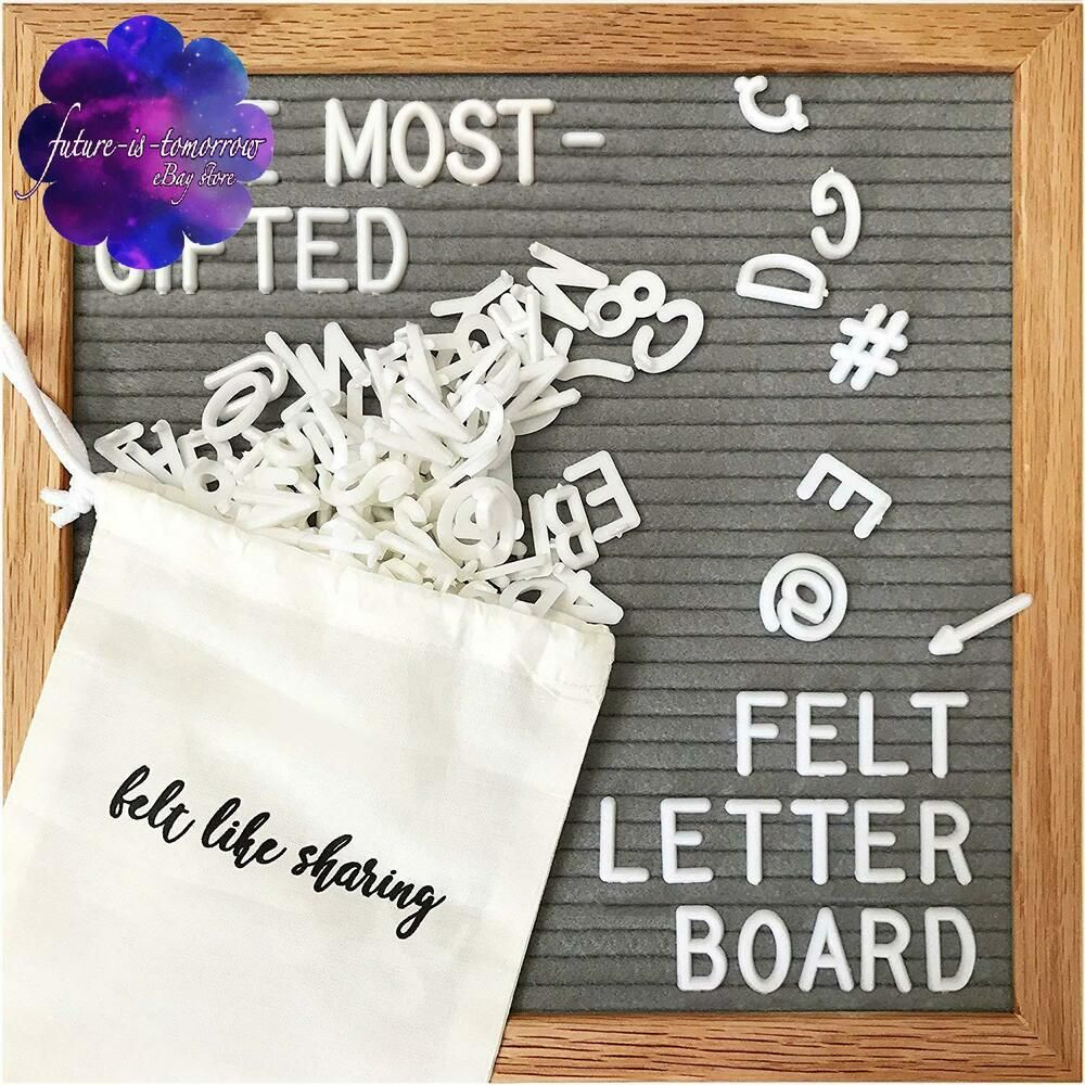 Gray Felt Letter Board 10X10 Inches. Changeable Letter Boards Include 300 White  #fashion #home #garden #homedcor #messageboardsholders (ebay link)