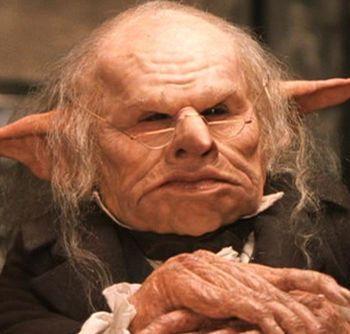 Gringotts Head Goblin Harry Potter Creatures Harry Potter Goblin Harry Potter Drawings