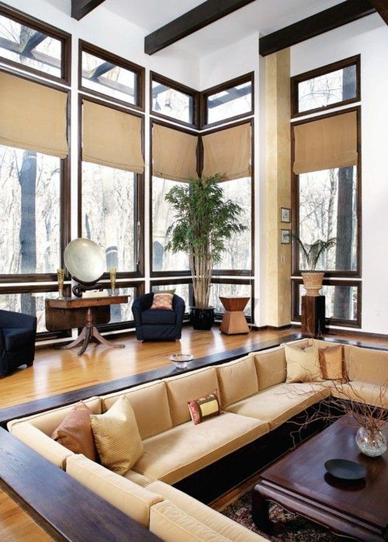 50 Pretty Sunken Living Room Design Ideas   Sunken living ...
