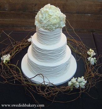 how to make a textured buttercream wedding cake
