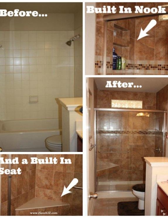 Bathroom Remodel Tub To Shower Project Food Recipes Tub