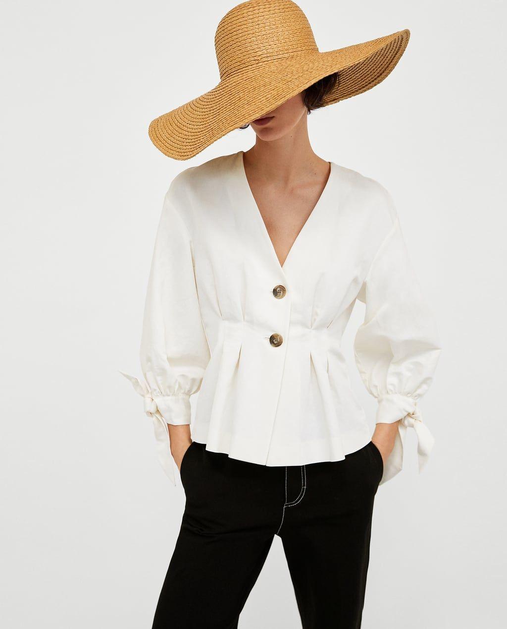 Camisas Y Colección España Online Mujer Nueva De Blusas Zara qgwn7q6xp
