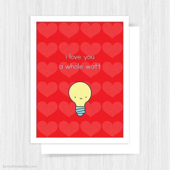 Funny Valentine Card Valentines Day Love Pun Handmade Greeting
