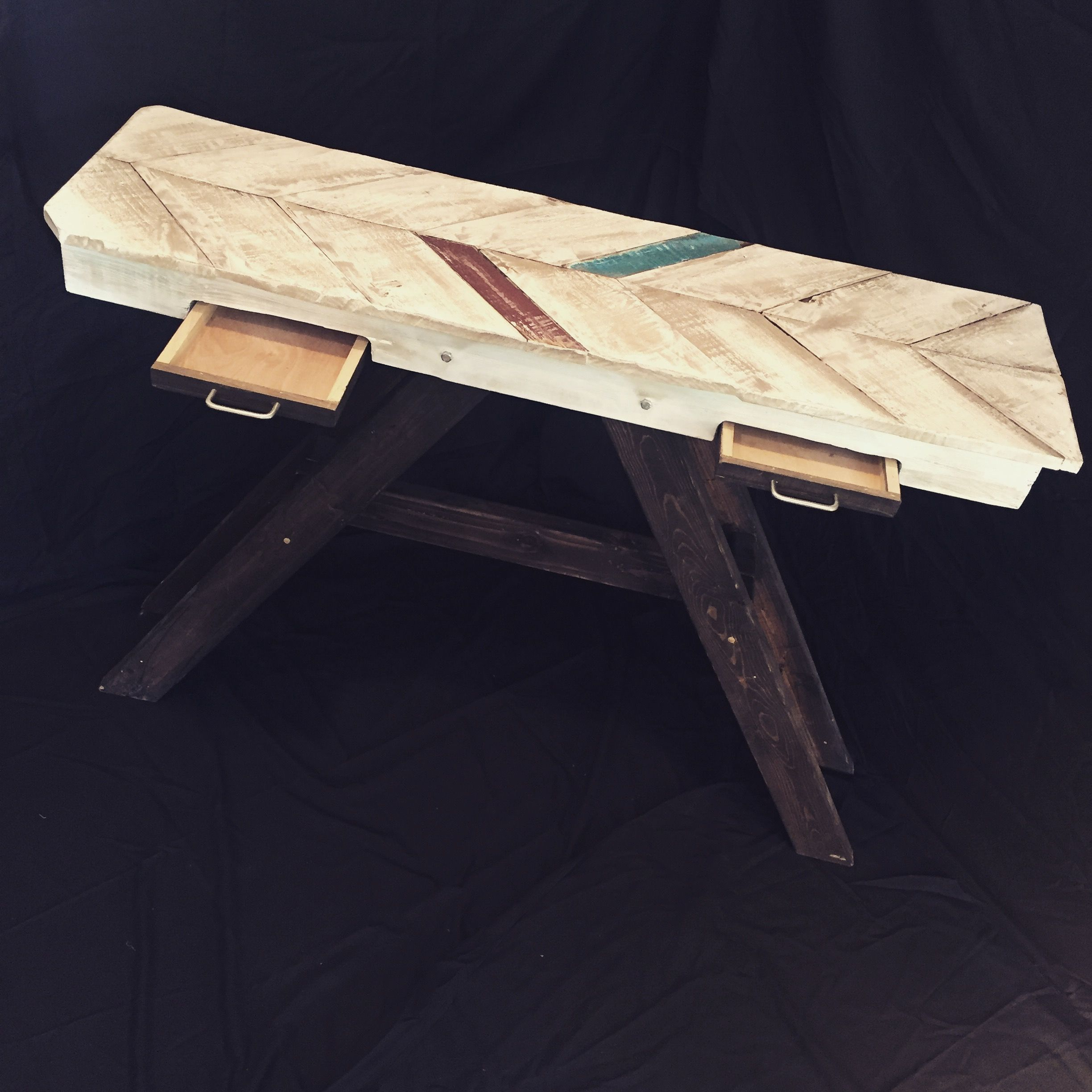 Entry Sofa Table Reclaimed Pallet Wood Construction $480