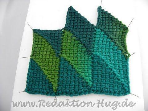 Tunisian Crochet Entrelac Diamonds Not English Narzuty