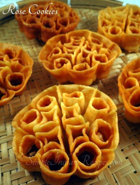 Christmas In India Food.Rose Cookies Achu Murukku