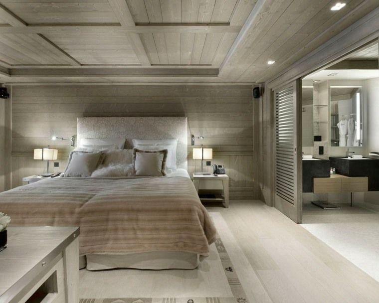 Chambre avec salle de bain  fusion d\u0027espaces harmonieuse Room