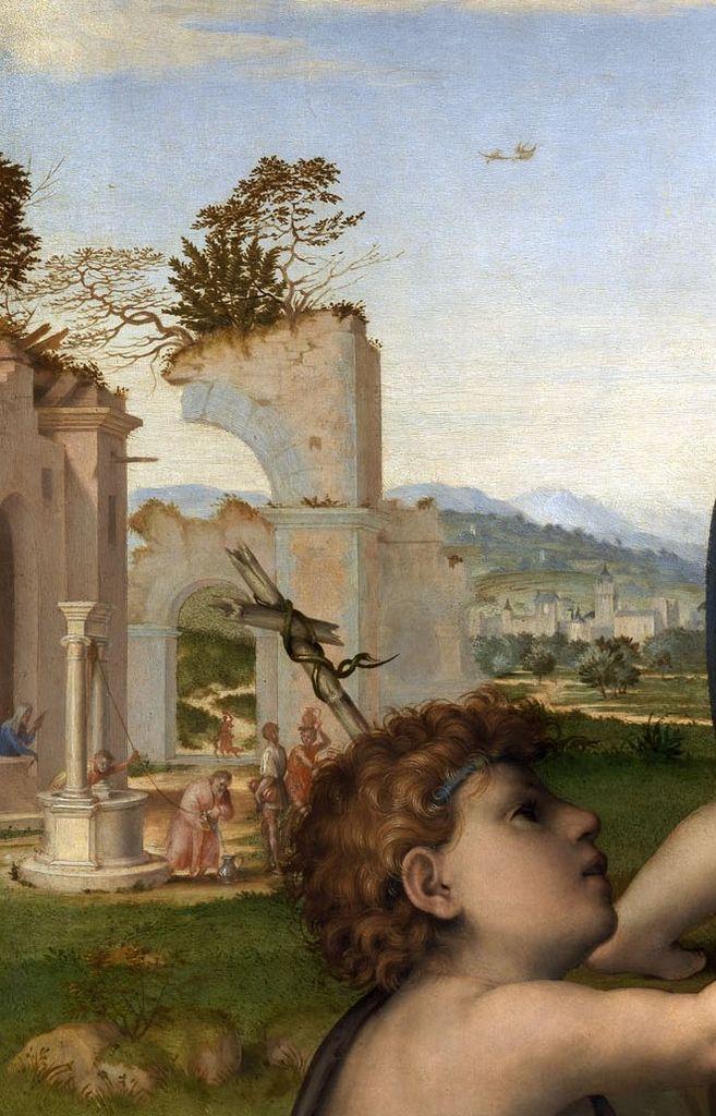 Franciabigio - Madonna con Bambino e San Giovannino, dettaglio - 1517-1518 - Galleria degli Uffizi, Firenze