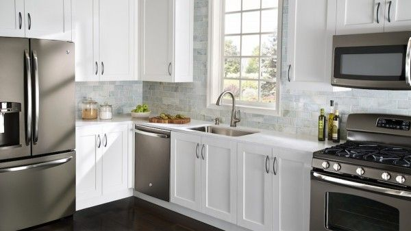 Beautiful White Kitchen Slate Kitchen Slate Appliances Kitchen Kitchen Design