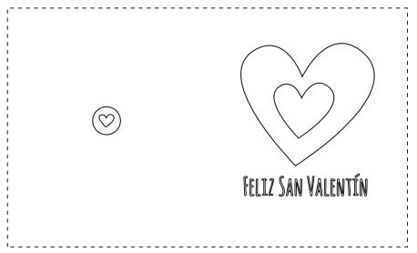 Tarjetas De San Valentín Para Colorear Tarjetas San